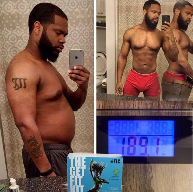 TLC Get Fit Kit Before and after